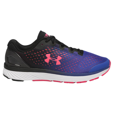 UNDER ARMOUR GIRLS GRADE SCHOOL CHARGED BANDIT 4 KIDS SHOE BLACK/PURPLE/PINK