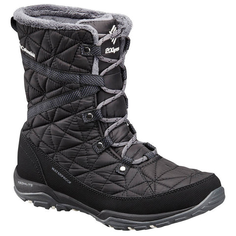 2a6a8e2e7 COLUMBIA WOMEN'S LOVELAND MID OMNI-HEAT WINTER BOOT BLACK/SEA SALT