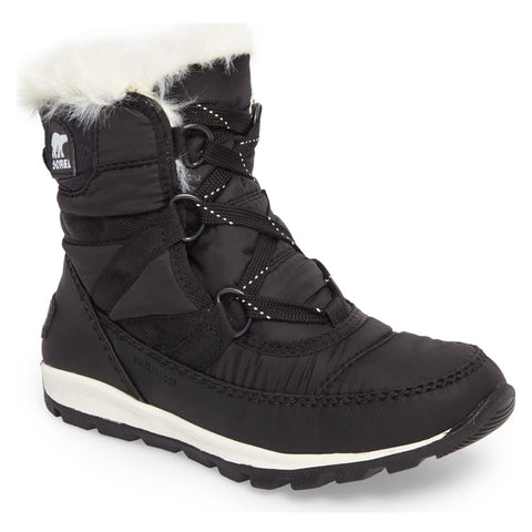 SOREL WOMEN'S WHITNEY SHORT LACE WINTER BOOT BLACK