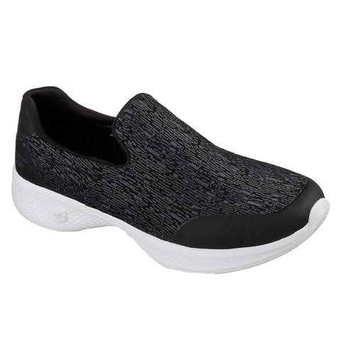 SKECHERS WOMEN'S GO WALK 4 - EXUBERANCE WALKING SHOE BLACK/WHITE