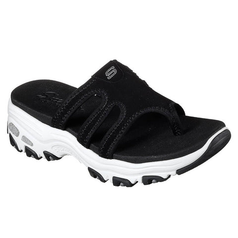 SKECHERS WOMEN'S D'LITES - INTER-WEBS SLIDE BLACK