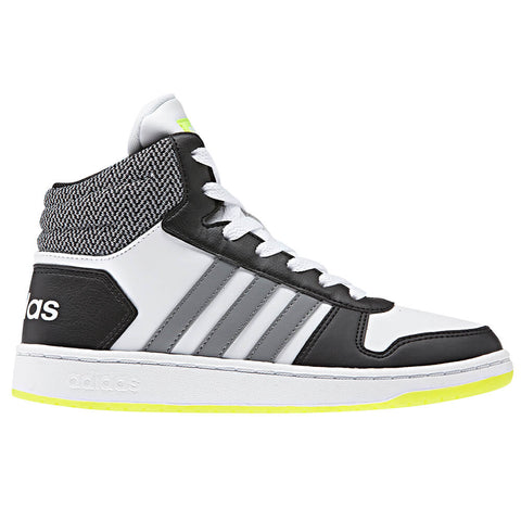 89d0e524bcd6 ADIDAS BOYS GRADE SCHOOL PRE-SCHOOL HOOPS MID 2.0 WHITE GREY BLACK
