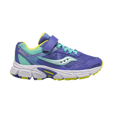 SAUCONY GIRLS PRE-SCHOOL COHESION 10 AC KIDS SHOE PERIWINKLE/TURQUOISE