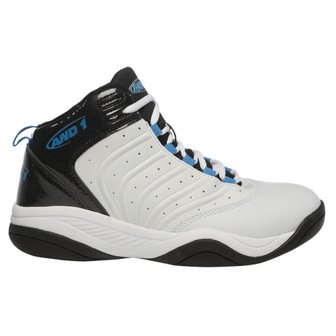 AND 1 MEN'S DRIVE BASKETBALL SHOE  WHITE/BLACK/BLUE