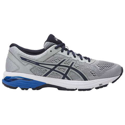 ASICS MEN'S GT 1000 6 RUNNING SHOE GREY/PEACOAT/BLUE