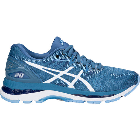 ASICS WOMEN'S GEL NIMBUS 20 RUNNING SHOE AZURE/WHITE
