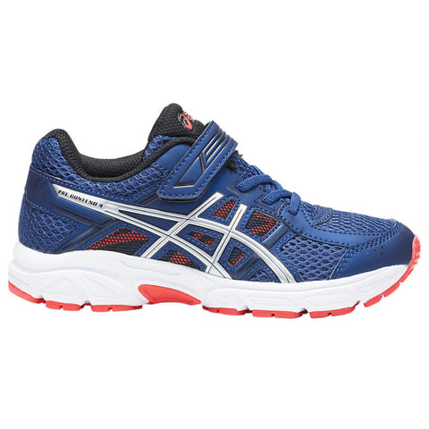 ASICS BOYS PRE-SCHOOL GEL CONTEND 4 AC KIDS SHOE DEEP OCEAN/SILVER