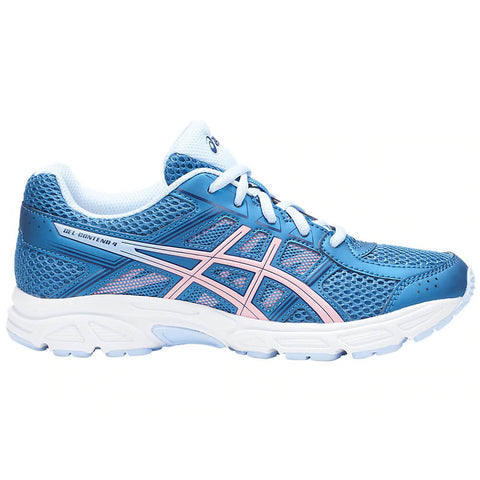 ASICS GIRLS GRADE SCHOOL GEL CONTEND 4 KIDS SHOE AZURE/FROSTED ROSE