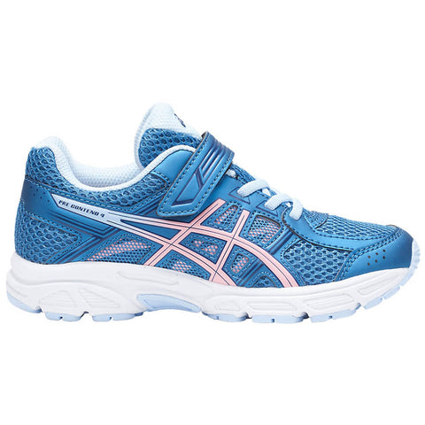 ASICS GIRLS PRE-SCHOOL GEL CONTEND 4 AC KIDS SHOE AZURE/FROSTED ROSE