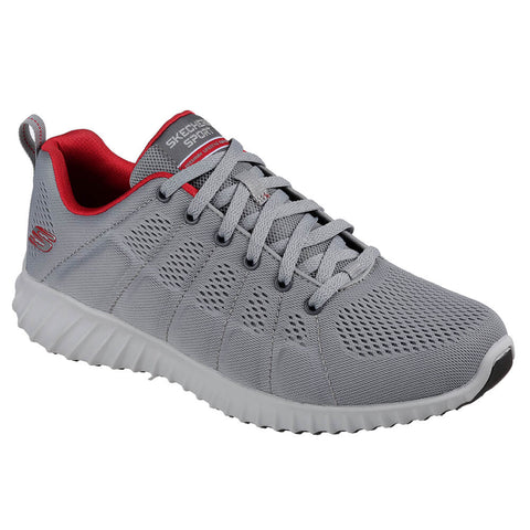 SKECHERS MEN'S SKECH-ASCENT - SHERROD TRAINING SHOE GREY/RED