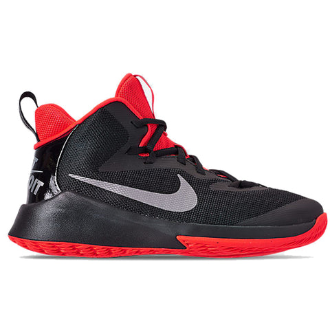 NIKE BOYS GRADE SCHOOL FUTURE COURT JDI KIDS SHOE BLACK/SILVER/CRIMSON