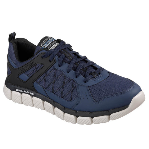 SKECHERS MEN'S SKECH-FLEX 2.0 - HIGH KNOLL TRAINING SHOE NAVY/BLACK