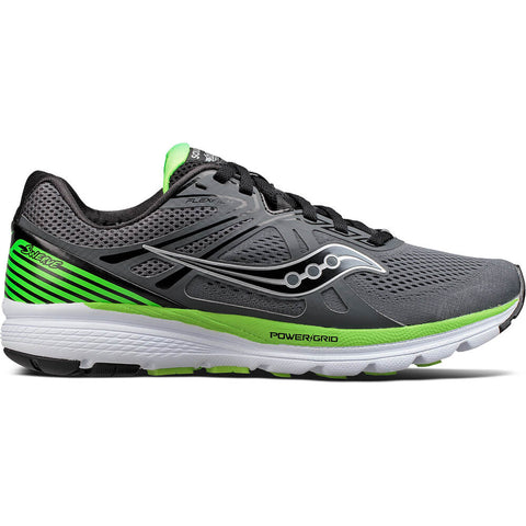 SAUCONY MEN'S SWERVE RUNNING SHOE BLACK/SLIME