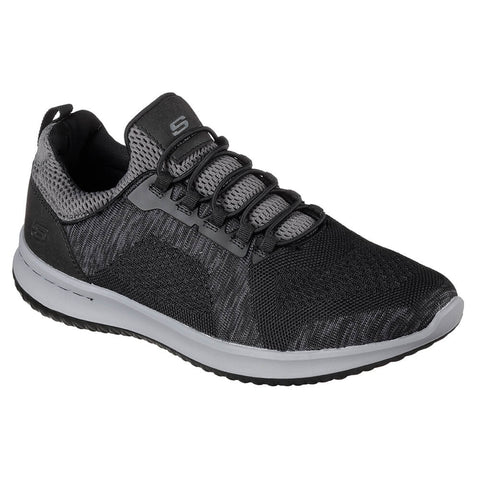 SKECHERS MEN'S DELSON - BREWTON WALKING SHOE BLACK/CHARCOAL