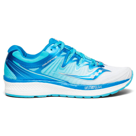 SAUCONY WOMEN'S TRIUMPH ISO 4 RUNNING SHOE WHITE/BLUE