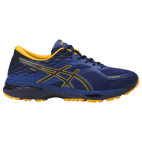 ASICS MEN'S GEL CUMULUS 19 GTX RUNNING SHOE BLUE/BLACK/GOLD
