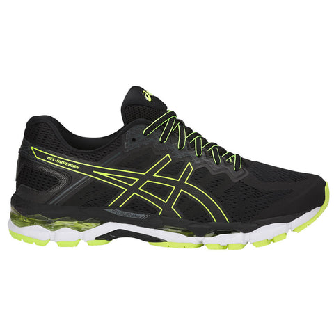 ASICS MEN'S GEL SUPERION RUNNING SHOE BLACK/ONYX/SAFETY YELLOW