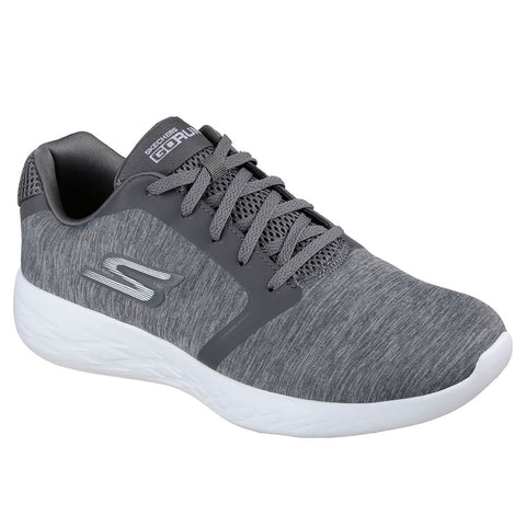 SKECHERS MEN'S GO RUN 600 - DIVERT RUNNING SHOE GREY