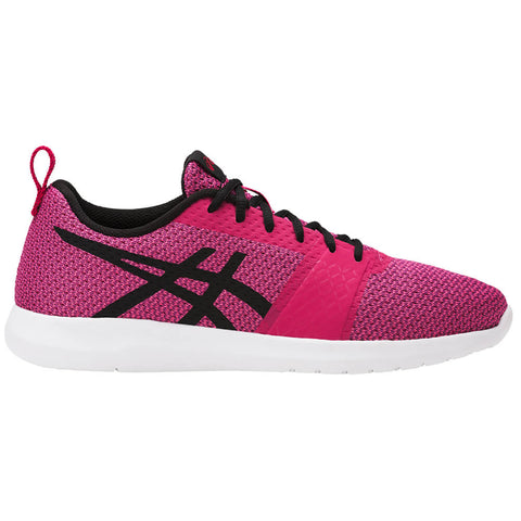 ASICS WOMEN'S KANMEI RUNNING SHOE COSMO PINK/BLACK/PRUNE