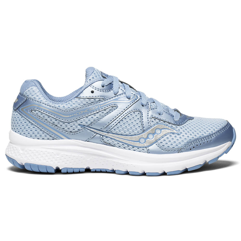 7987a0971f11 SAUCONY WOMEN S GRID COHESION 11 RUNNING SHOE FOG BLUE
