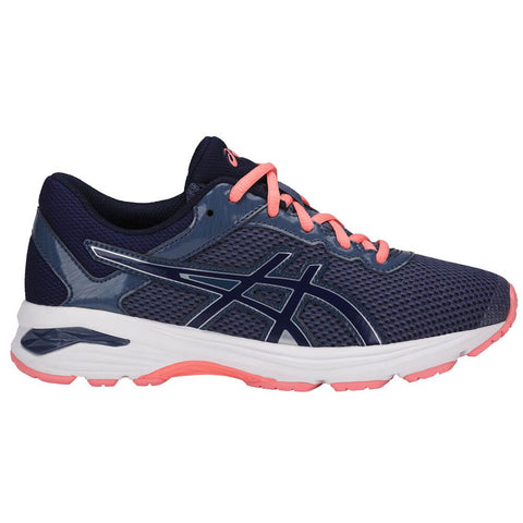 ASICS GIRLS GRADE SCHOOL GT-1000 6 KIDS SHOE BLUE/INDIGO/BEGONIA PINK
