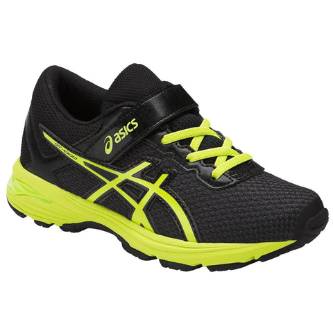 ASICS BOYS PRE-SCHOOL GT-1000 6 KIDS SHOE BLACK/GREEN/SILVER
