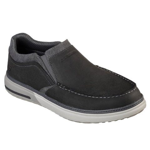 SKECHERS MEN'S FOLTEN - RISON LIFESTYLE SHOE CHARCOAL