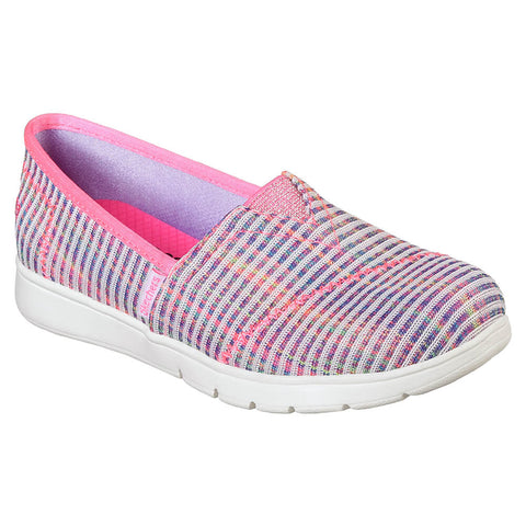 SKECHERS GIRLS PRE-SCHOOL PUREFLEX - BELLA LITES KIDS SHOE PINK/MULTI