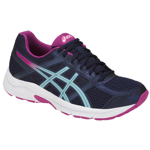 429ae50f61a8 ASICS WOMEN S GEL CONTEND 4 RUNNING SHOE PEACOAT BLUE RED
