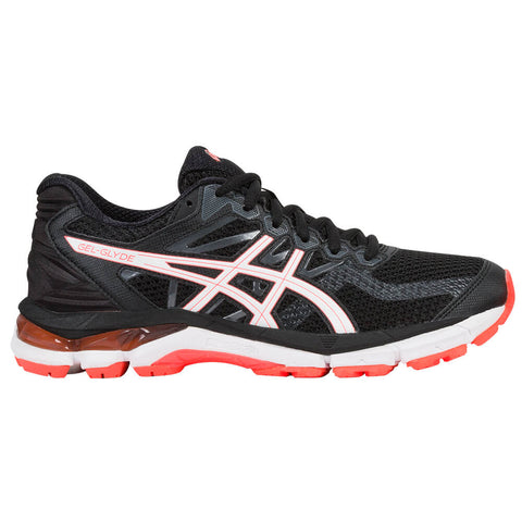 ASICS WOMEN'S GEL GLYDE RUNNING SHOE BLACK/WHITE/FLASH CORAL