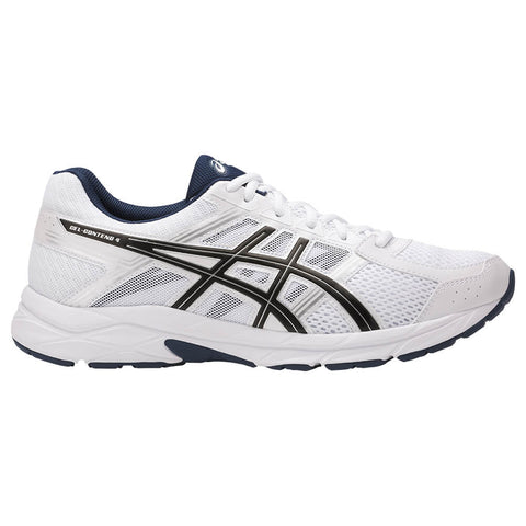ASICS MEN'S GEL CONTEND 4 RUNNING SHOE WHITE/BLACK/INSIGNIA BLUE