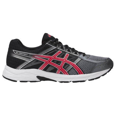 ASICS MEN'S GEL CONTEND 4 RUNNING SHOE CARBON/BLACK/RED
