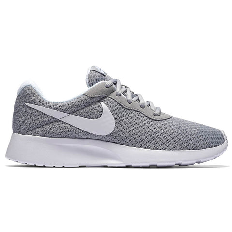 NIKE WOMEN'S TANJUN RUNNING SHOE WOLF GREY/WHITE