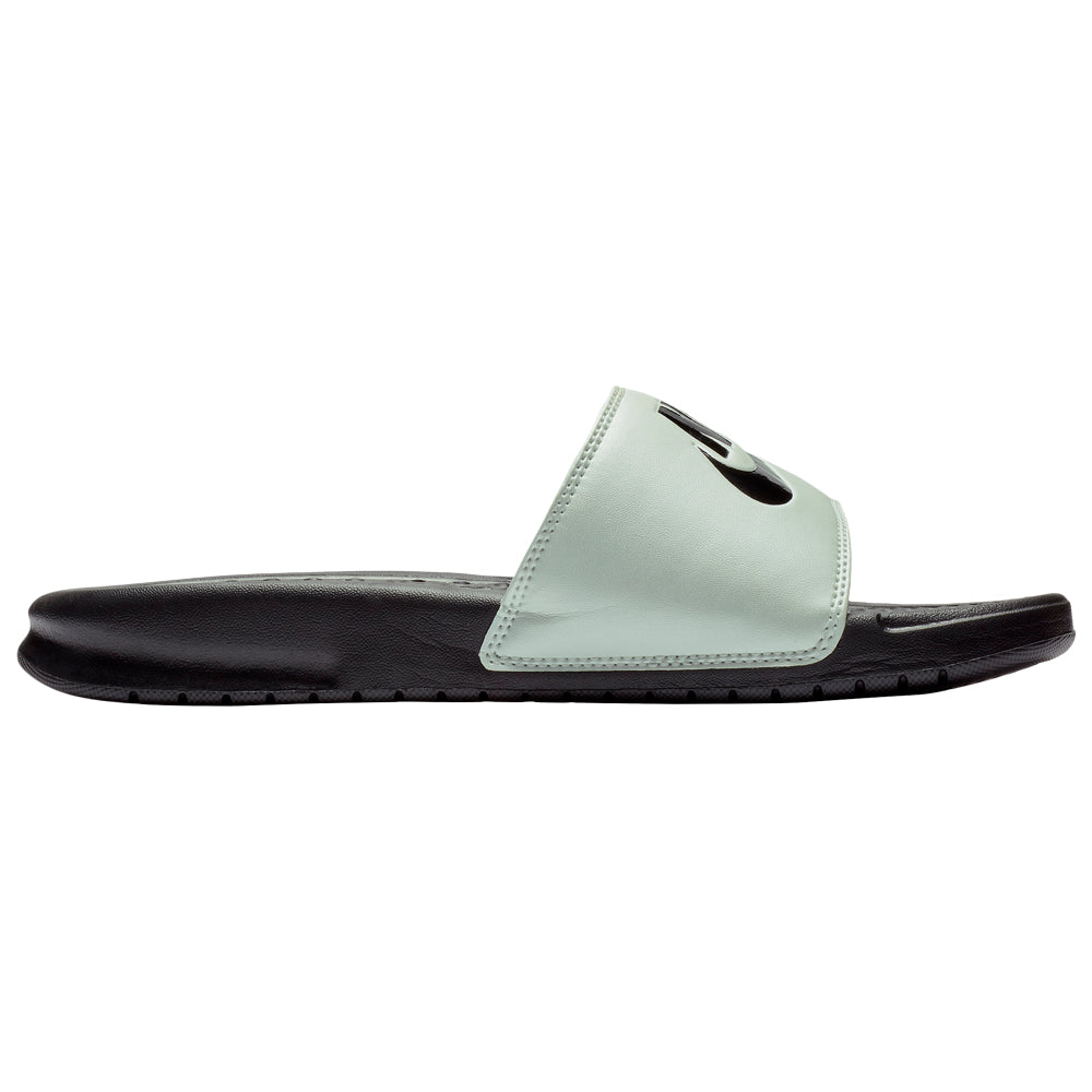 c3bfa32bd NIKE WOMEN S BENASSI JDI SLIDE SPRUCE AURA BLACK BLACK – National Sports