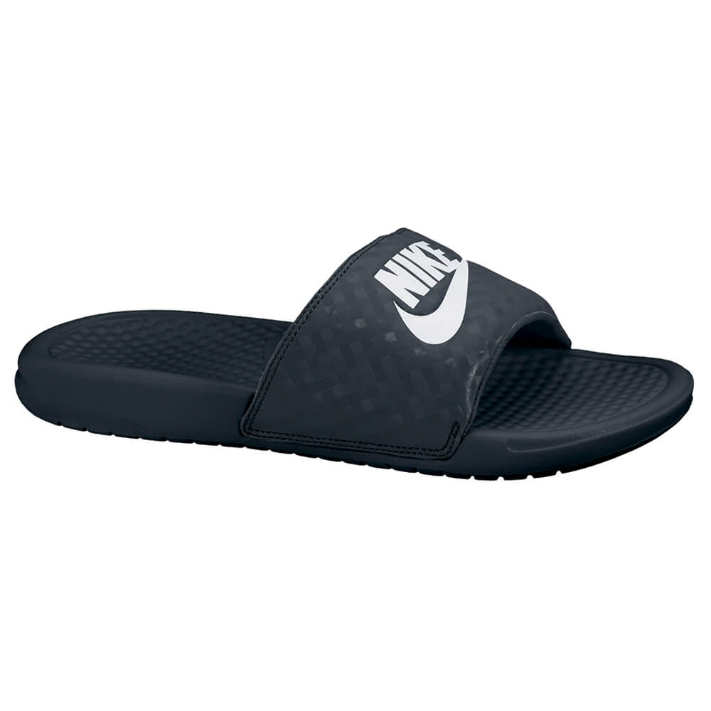 6d8bd4860 NIKE WOMEN S BENASSI JDI SLIDE BLACK WHITE – National Sports