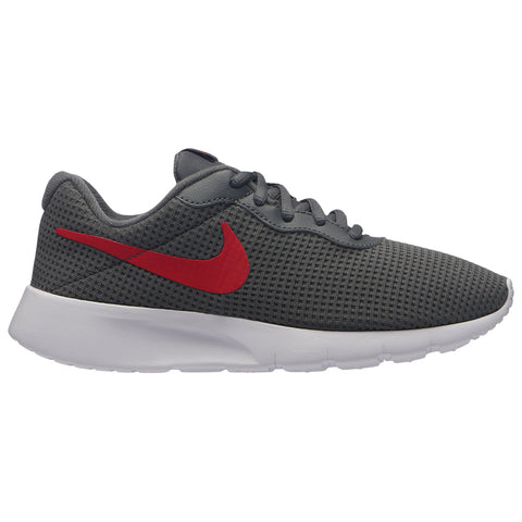 NIKE BOYS GRADE SCHOOL TANJUN KIDS SHOE GREY/UNIVERSITY RED/WHITE