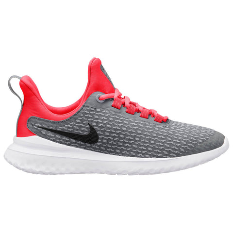 NIKE BOYS GRADE SCHOOL RENEW RIVAL KIDS SHOE COOL GREY/BLACK/RED ORBIT