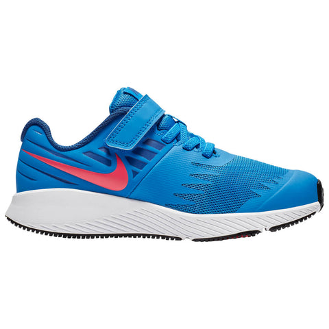 NIKE BOYS PRE-SCHOOL STAR RUNNER KIDS SHOE BLUE/RED ORBIT/INDIGO FORCE