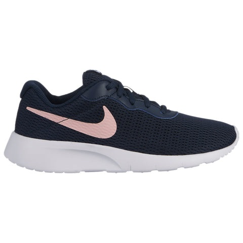 NIKE GIRLS GRADE SCHOOL TANJUN KIDS SHOE OBSIDIAN/CORAL/WHITE