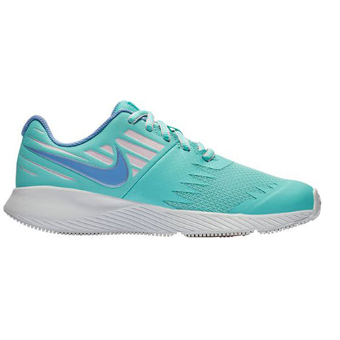 NIKE GIRLS GRADE SCHOOL STAR RUNNER KIDS SHOE LIGHT AQUA/ROYAL/WHITE