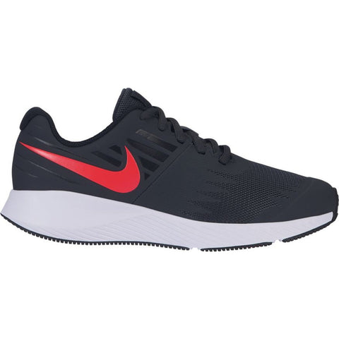 NIKE BOYS GRADE SCHOOL STAR RUNNER KIDS SHOE ANTHRACITE/RED ORBIT/BLACK