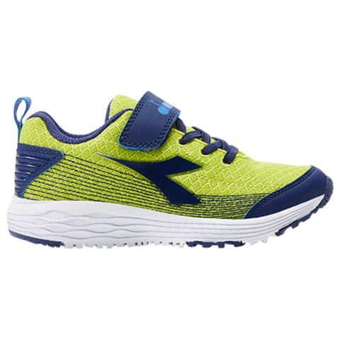 DIADORA BOYS PRE-SCHOOL FLAMINGO KIDS SHOE LIME PUNCH/ESTATE BLUE
