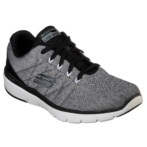 SKECHERS MEN'S FLEX ADVANTAGE 3.0 - STALLY RUNNING SHOE CHARCOAL/BLACK