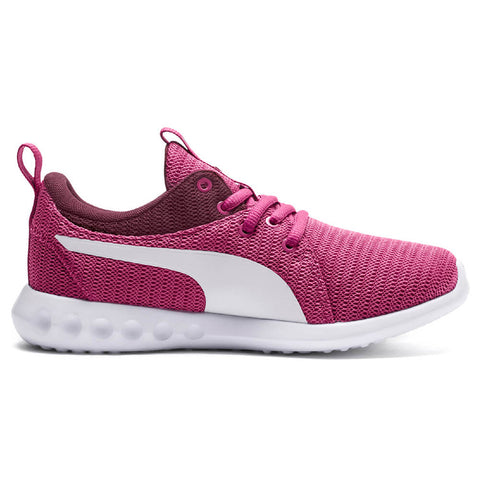 PUMA GIRLS GRADE SCHOOL CARSON 2 JR KIDS SHOE MAGENTA HAZE/FIG/WHITE