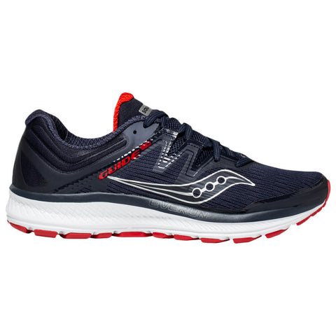SAUCONY MEN'S GUIDE ISO RUNNING SHOE NAVY/RED