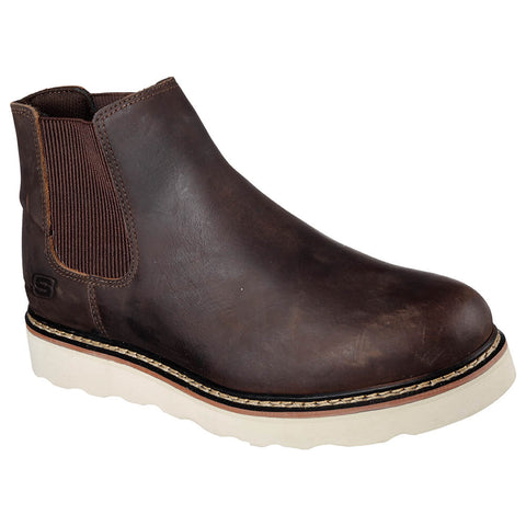 SKECHERS MEN'S PETTUS - KIRKALDY WINTER BOOT DARK BROWN
