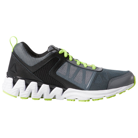 REEBOK BOYS GRADE SCHOOL ZIGKICK 2K18 KIDS SHOE ALLOY/BLACK/NEON LIME