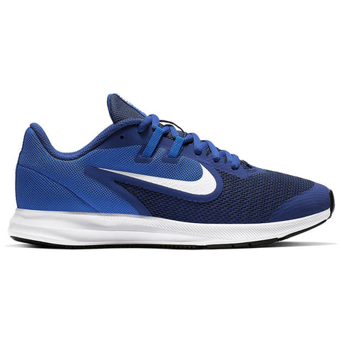 NIKE BOYS GRADE SCHOOL DOWNSHIFTER 9 KIDS SHOE ROYAL BLUE/WHITE/GAME ROYAL