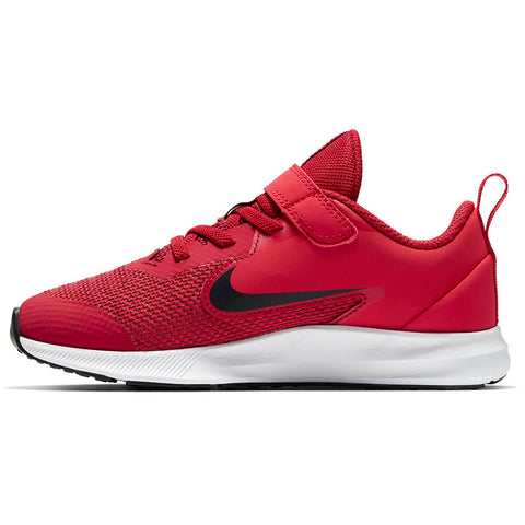 NIKE BOYS PRE-SCHOOL DOWNSHIFTER 9 KIDS SHOE GYM RED/BLACK/UNIVERSITY RED/WHITE