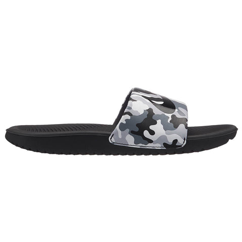 NIKE BOYS KAWA SLIDE PRINT SLIDE WOLF GREY/BLACK/COOL GREY/WHITE